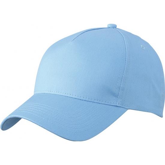 5 panel baseball cap licht blauw dames en heren