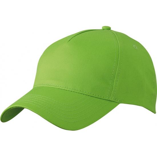 5 panel baseball cap lime groen dames en heren