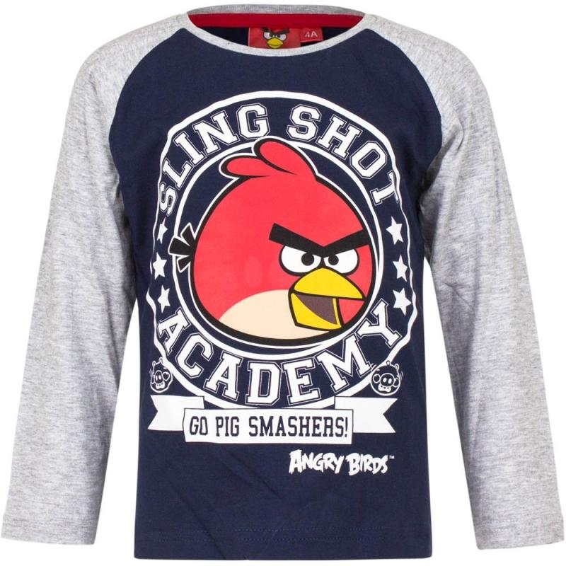 Angry Birds shirt lange mouw blauw/grijs voor jongens