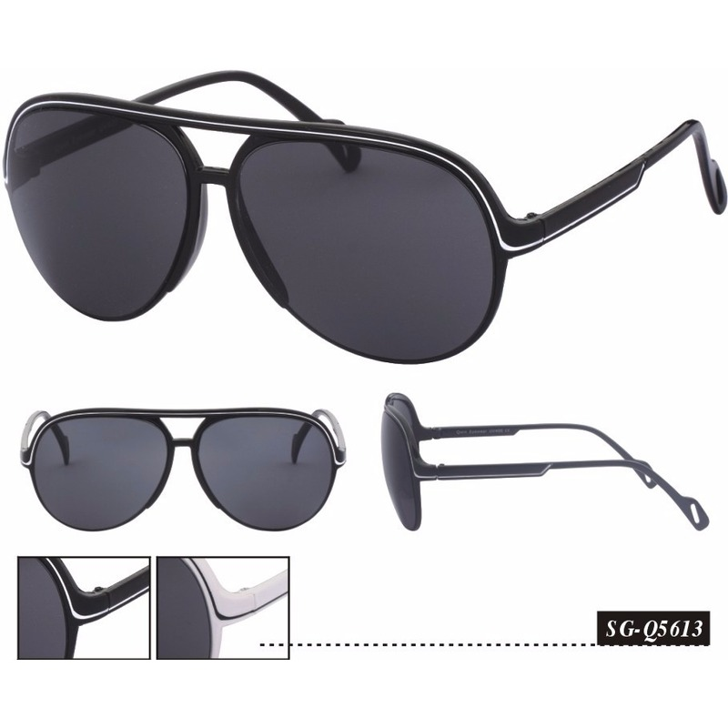 Aviator damesbrillen zwart model 5613