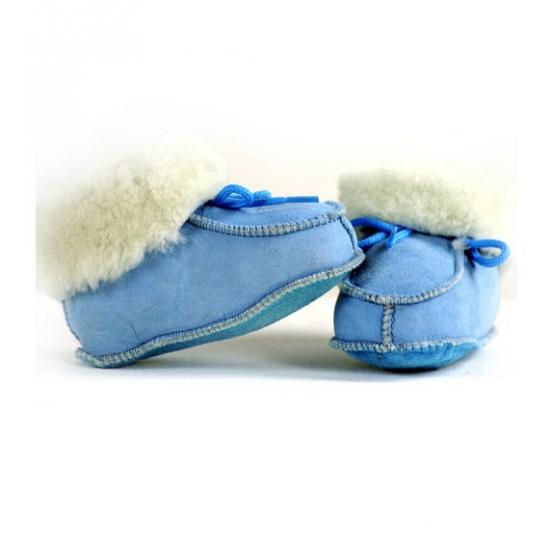 Baby slofjes in blauw