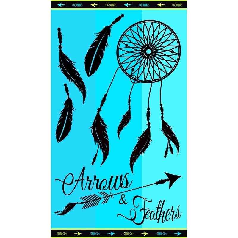 Badlaken Arrows voor volwassenen 95/100 x 175