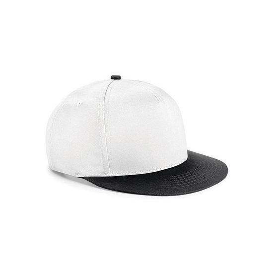 Beechfield kindercap wit/zwart