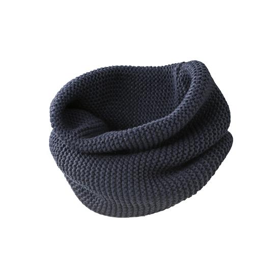 Casual sjaal rond model navy