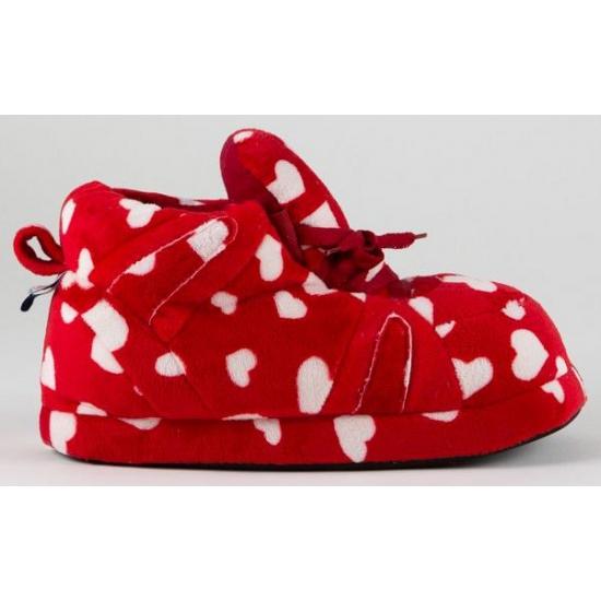 Dames sportschoen pantoffels hartjes rood