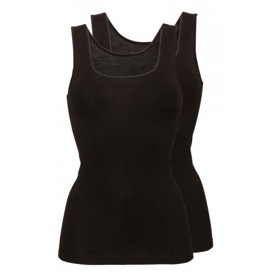 Dames zwarte hemdjes set van Ten Cate