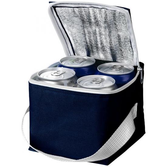 Donkerblauw koeltasje 4 blikjes