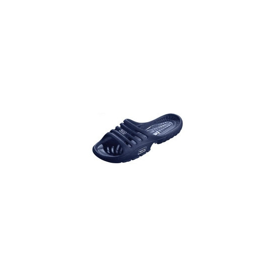Donkerblauwe strand slippers voor dames