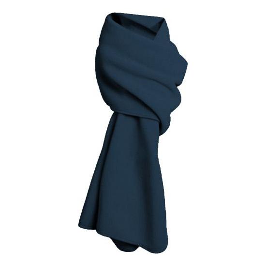 Fleece winter sjaal marine blauw