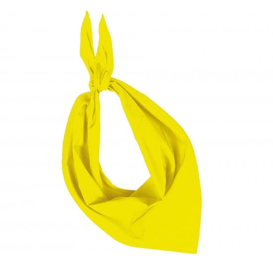 Gele hals zakdoeken bandana style