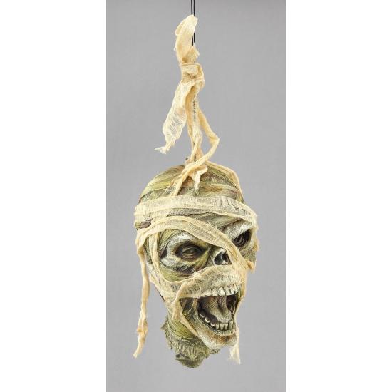 Halloween mummie hoofd decoratie