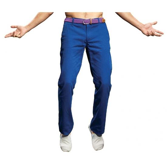 Heren feest broek blauw