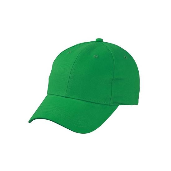 Katoenen baseball caps grasgroen