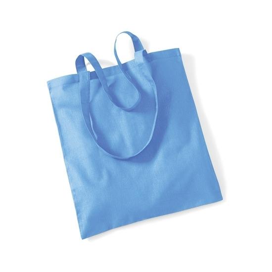 Katoenen boodschappentasje licht blauw