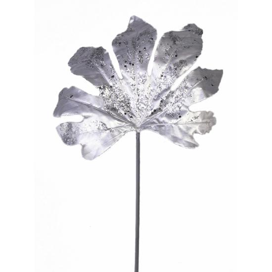 Kerstdecoratie Zilveren Aralia Blad 55 Cm Fashionstore kopen
