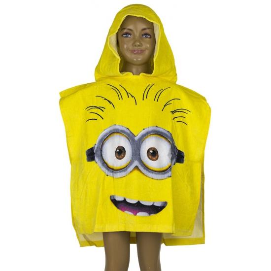 Minions gezicht badcape geel