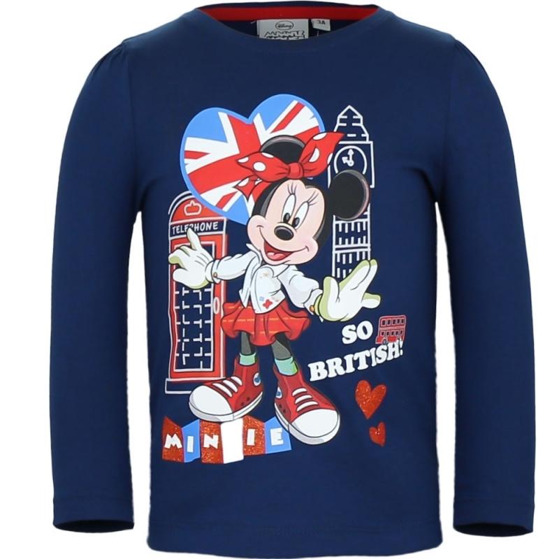 Minnie Mouse shirt lange mouw blauw voor meisjes