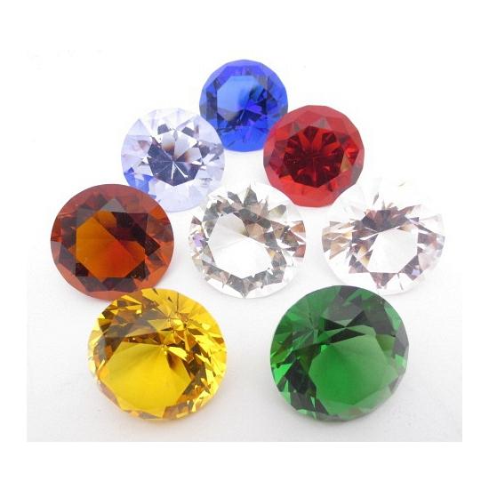 Mooie oranje decoratie diamant 5 cm