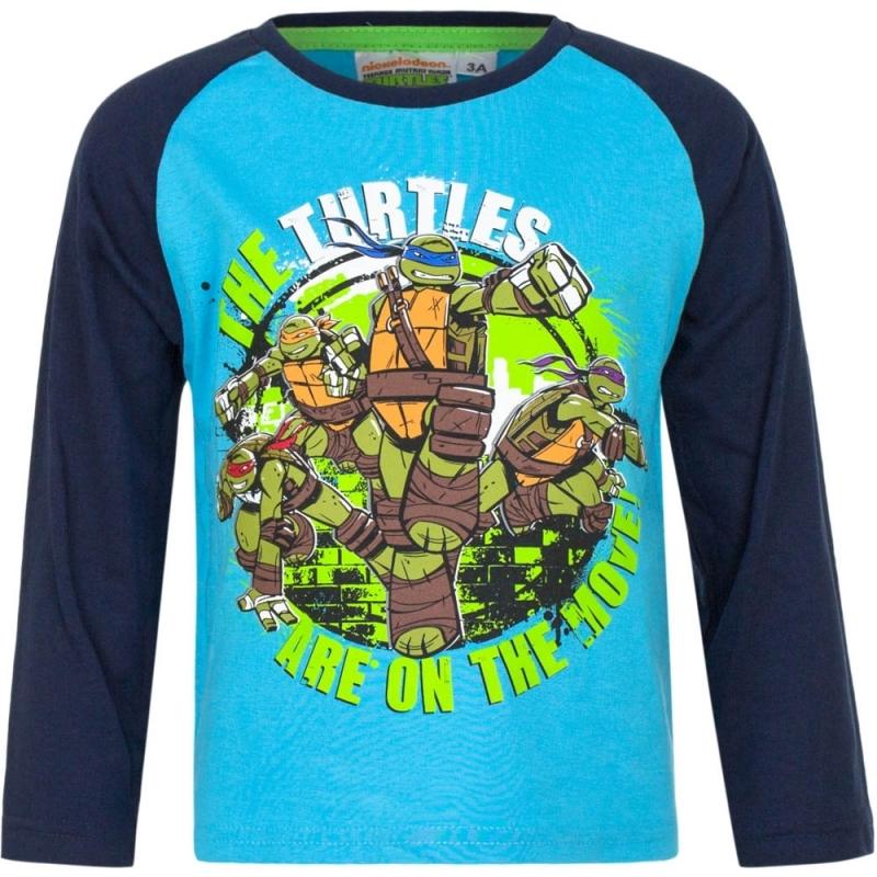 Ninja Turtles shirt lange mouw blauw voor jongens