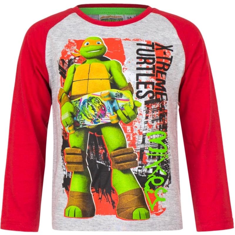 Ninja Turtles shirt lange mouw grijs voor jongens