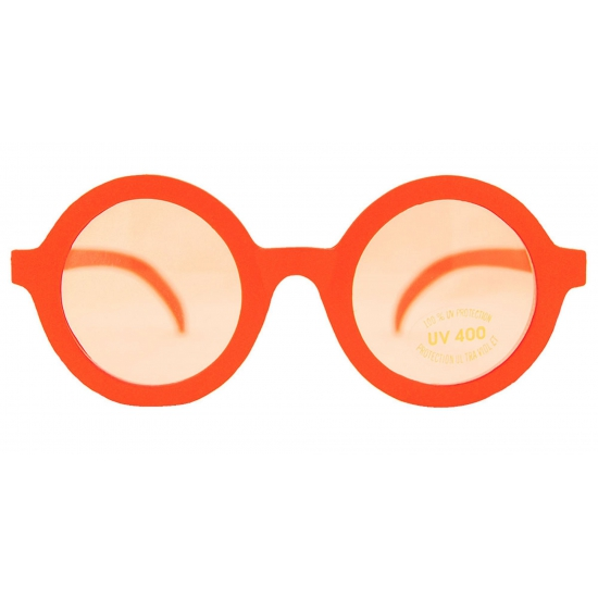 Oranje nerds feestbril