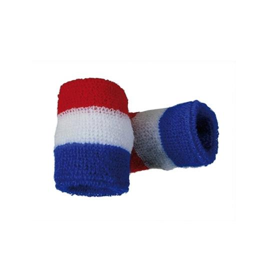 Polsbandjes in rood wit blauw