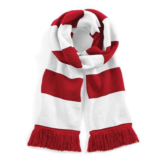 Rood met witte sjaal 182 cm