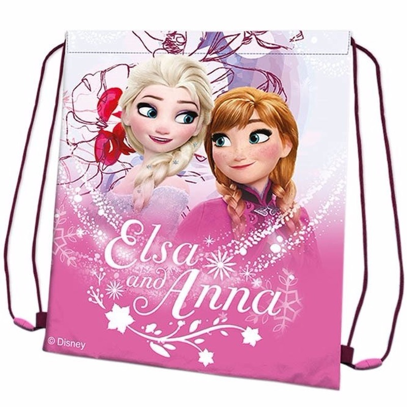 Roze Frozen gymtasje 41 cm