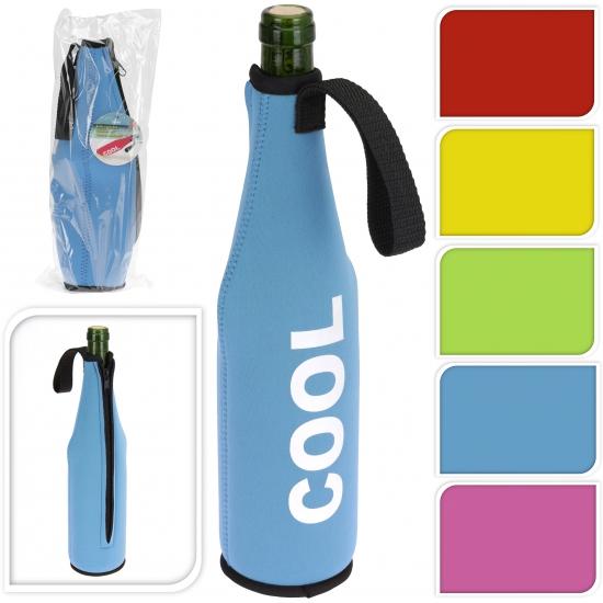 Roze koeltas voor fles 0.5 liter