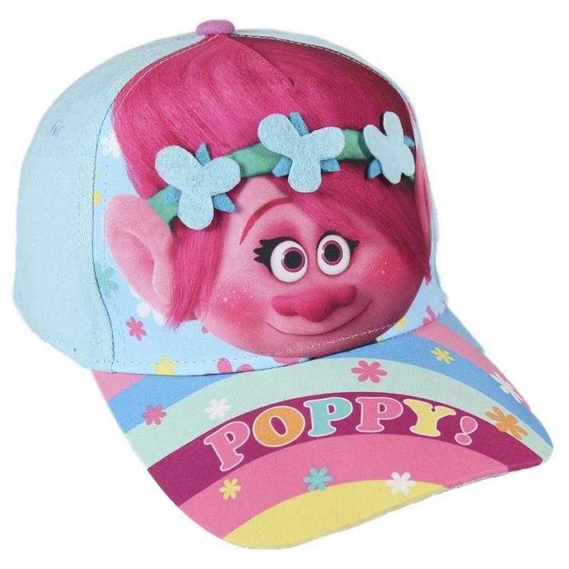 Roze Trolls Poppy cap voor meisjes