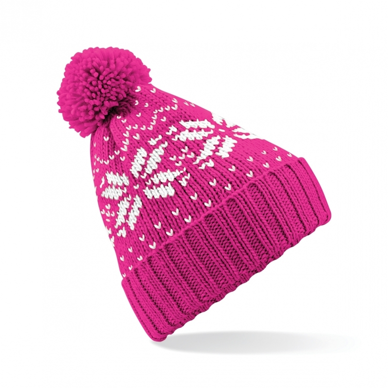 Roze wintermuts Snowstar Classic