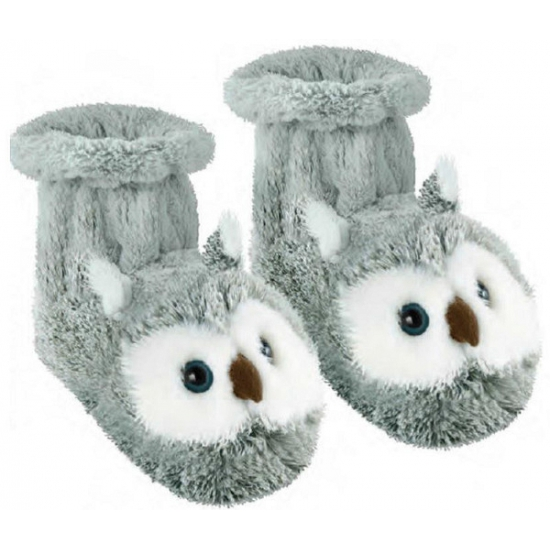 Slof sokken grijze uil