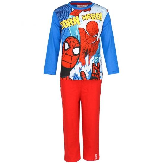 Spiderman pyjama blauw rood