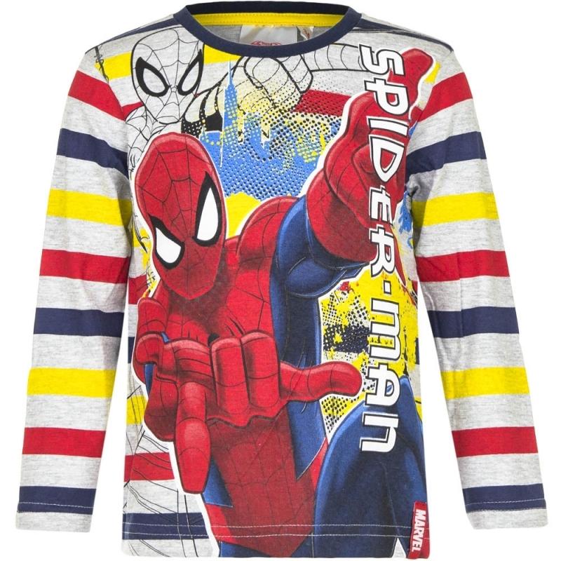 Spiderman shirt lange mouw gestreept voor jongens