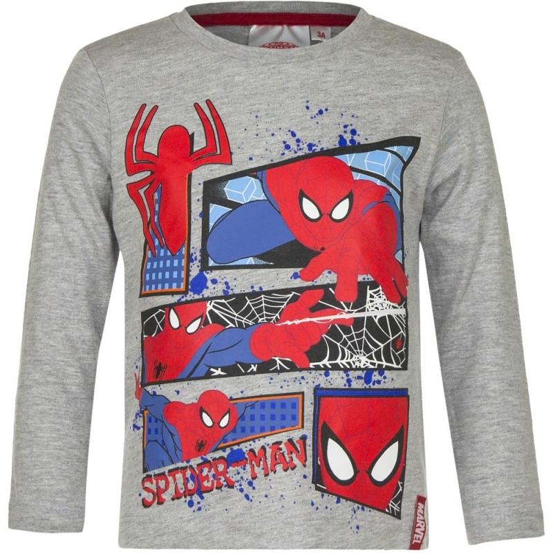Spiderman shirt lange mouw grijs voor jongens