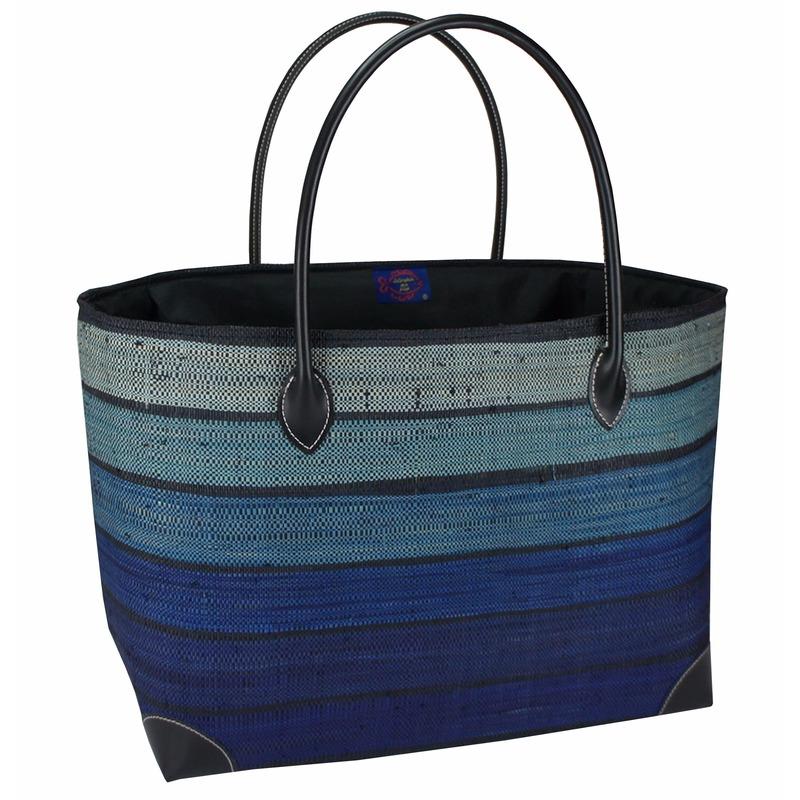 Strandtassen Happy Blue blauw 49 cm
