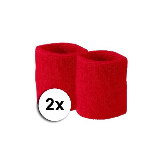 Voordelige rode zweetbandjes set