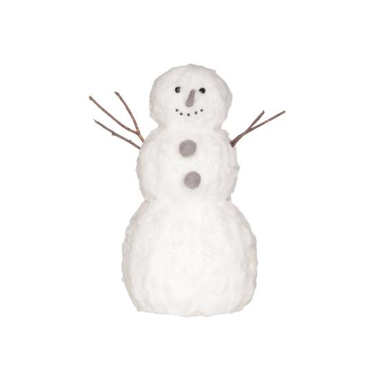 Winter decoratie sneeuwman van watten 42 cm
