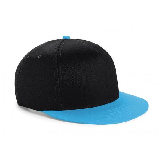 Zwart met blauwe kinder snapback cap