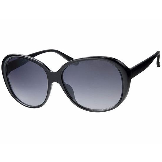 Zwarte dames zonnebrillen met grote glazen