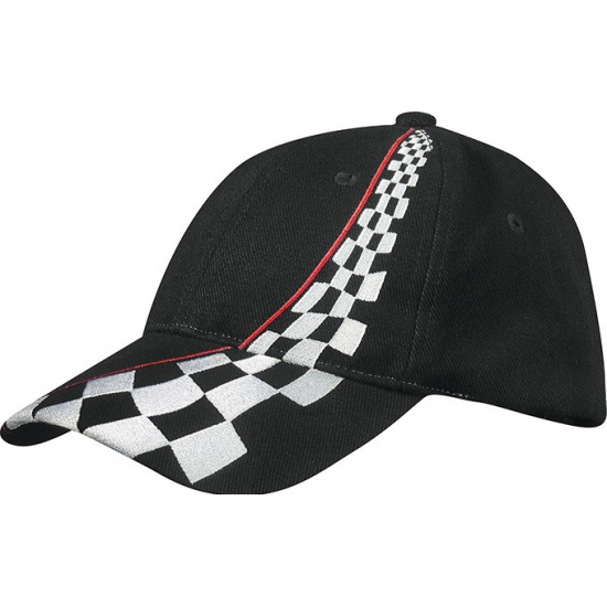 Zwarte Formule-1 racing baseball caps
