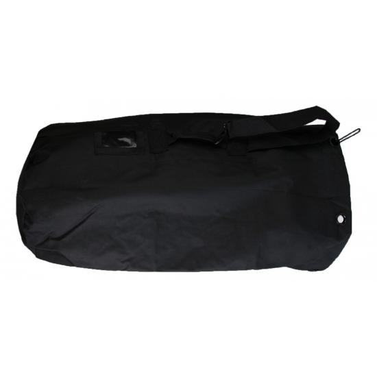 Zwarte grote plunjezak 90 cm