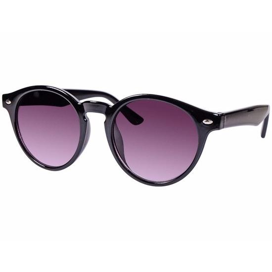 Zwarte ronde Clubmaster zonnebril model 7001