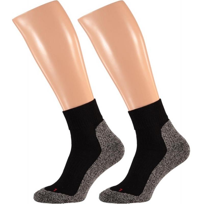 Zwarte running sokken maat 45-47