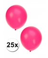 25x fluor roze party ballonnen