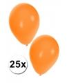 25 stuks oranje feestballonnen