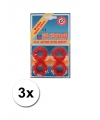3 pakjes met 12 schots speelgoed plaffertjes