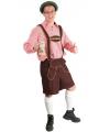 Bruine Oktoberfest lederhose voor heren