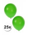 Groene feestballonnen 25 stuks