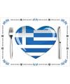 Griekse placemats van papier 10 stuks